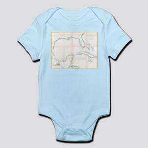Vintage Map of The Gulf of Mexico (1852) Body Suit