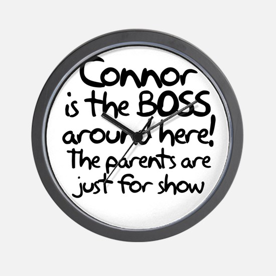 Connor is the Boss Wall Clock