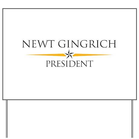Newt Gingrich Yard Sign