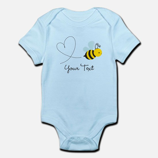 Cute Bee and Heart; honeybee; Personalized Kid's B