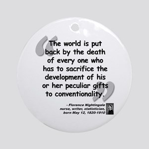 Nightingale Gifts Quote Ornament (Round)