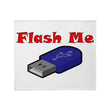 Flash me Throw Blanket