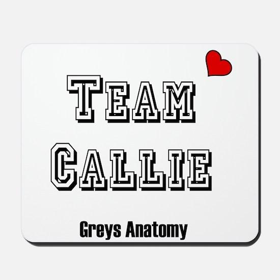 Team Callie Heart Greys Mousepad