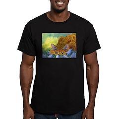 The harebell stalk Men's Fitted T-Shirt (dark)