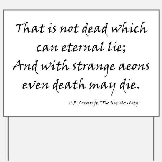 HPL: Death Yard Sign