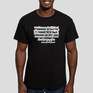 HPL: Ignorance Men's Fitted T-Shirt (dark)