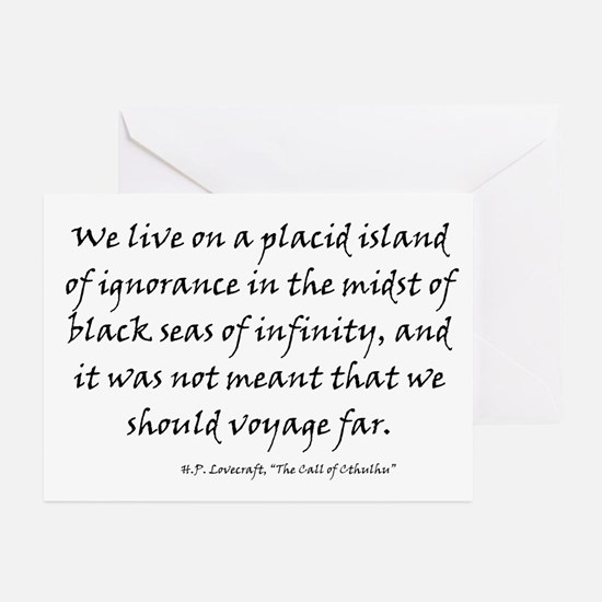 HPL: Ignorance Greeting Cards (Pk of 20)