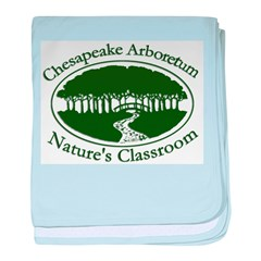 Chesapeake Arboretum Logo baby blanket
