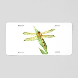 Golden Dragonfly Aluminum License Plate