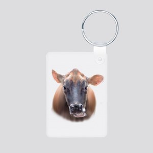 Cow face Aluminum Photo Keychain