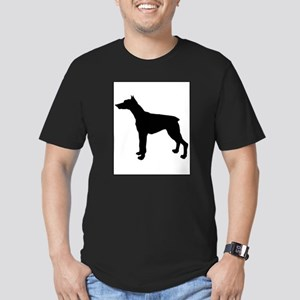 Doberman Pinscher Silhouette Men's Fitted T-Shirt