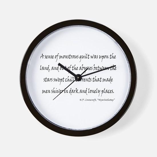 HPL: Nyarlathotep Wall Clock