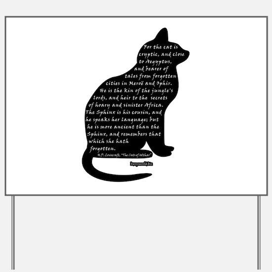 HPL: Cats Yard Sign