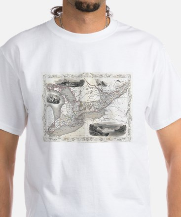 Vintage Map of Ontario Canada (1850) T-Shirt