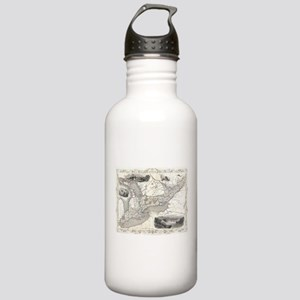 Vintage Map of Ontario Stainless Water Bottle 1.0L