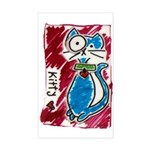 Cat Pin Sticker (Rectangle)