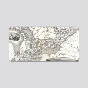 Vintage Map of Ontario Cana Aluminum License Plate