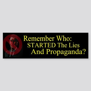 Reagan Started Propaganda Sticker (Bumper)