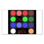 I'm gel'n (I'm gelling) Sticker (Rectangle 50 pk)