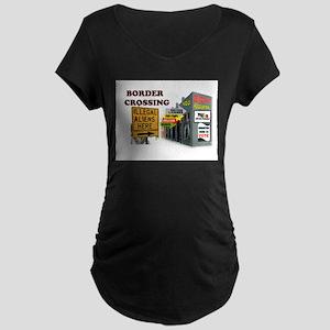 QUE PASA AQUI? Maternity Dark T-Shirt