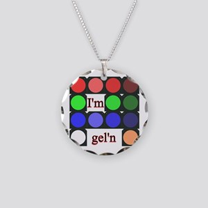 I'm gel'n (I'm gelling) Necklace Circle Charm