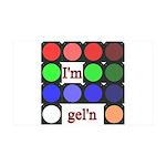 I'm gel'n (I'm gelling) 38.5 x 24.5 Wall Peel