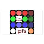 I'm gel'n (I'm gelling) Sticker (Rectangle 10 pk)