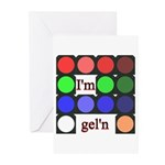 I'm gel'n (I'm gelling) Greeting Cards (Pk of 10)