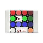 I'm gel'n (I'm gelling) Rectangle Magnet (100 pack