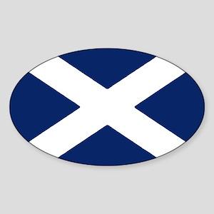 Scottish Flag Auto Decal / Sticker (Oval)