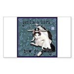 Cat Libra Sticker (Rectangle 50 pk)
