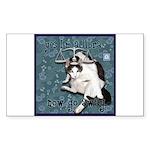 Cat Libra Sticker (Rectangle 10 pk)