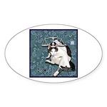Cat Libra Sticker (Oval 50 pk)