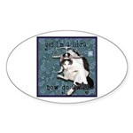 Cat Libra Sticker (Oval 10 pk)