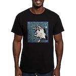 Cat Libra Men's Fitted T-Shirt (dark)