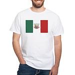 Mexico Biker w/flag White T-Shirt