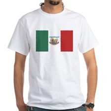 Mexico Biker w/flag White T-Shirt