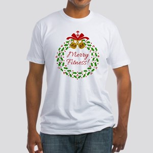 Merry Fitness Wreath T-Shirt
