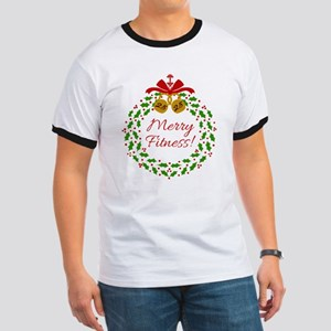 Merry Fitness Wreath T-Shirt