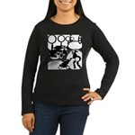 Circle 1 Women's Long Sleeve Dark T-Shirt