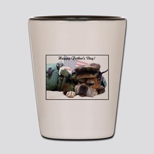 Happy fathers day boxer card Shot Glass