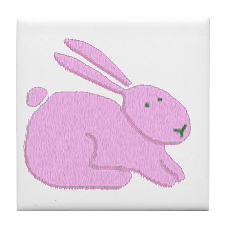 Pink Bunny Tile Coaster