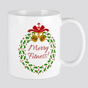 Merry Fitness Wreath Mugs