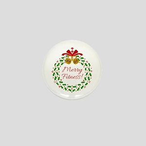 Merry Fitness Wreath Mini Button