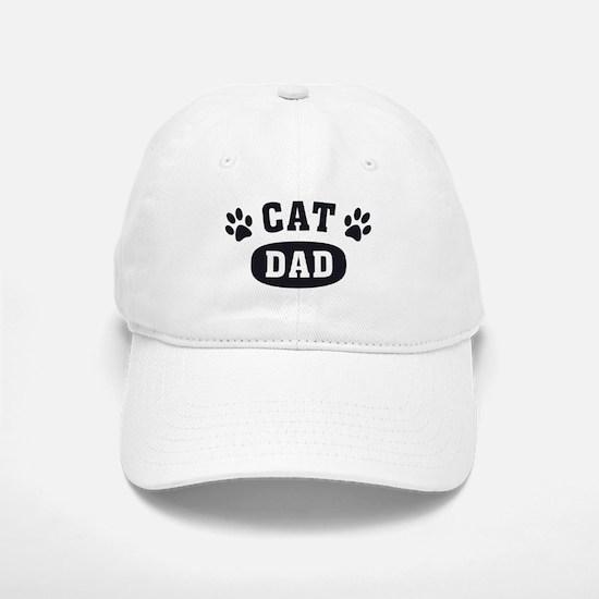 Cat Dad [b/w] Baseball Baseball Cap