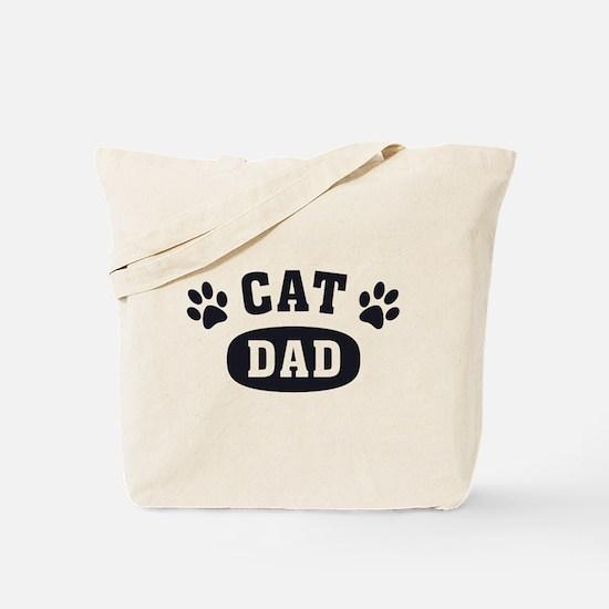 Cat Dad [b/w] Tote Bag