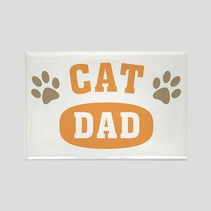 Cat Dad Rectangle Magnet