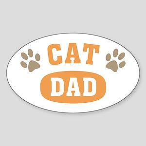 Cat Dad Sticker (Oval)