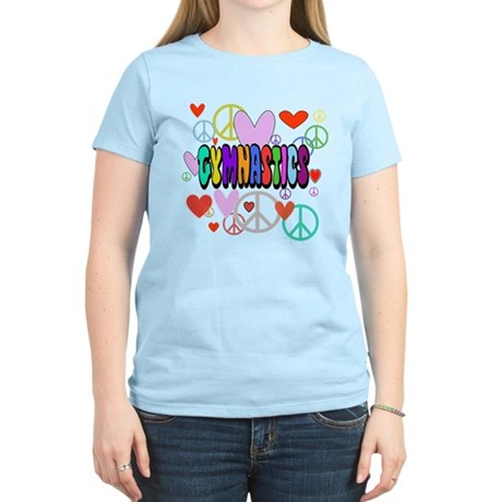 Peace-Love-Gymnastics Women's Light T-Shirt