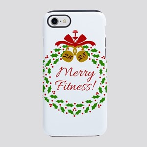 Merry Fitness Wreath iPhone 7 Tough Case